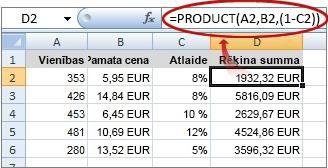 Ielīmēšanas opcijas - Excel