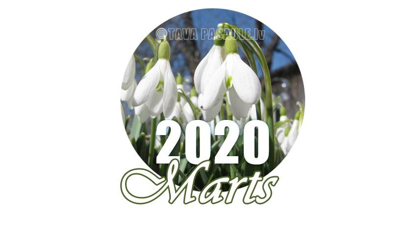 iespējas 2020. gada martam