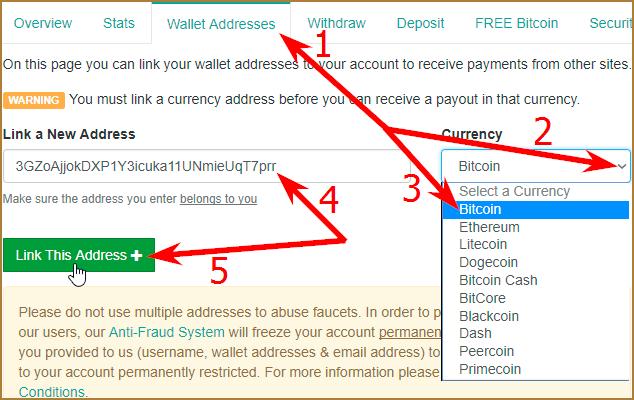 kur dabūt bitcoin adreses krāna centru)