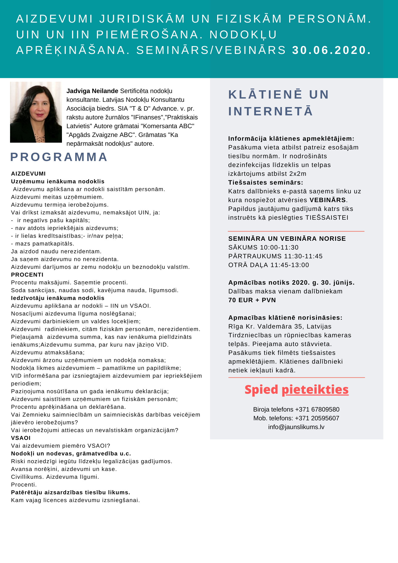 Mācības pieaugušajiem e-vide - Daugavpils Tirdzniecības profesionālā vidusskola
