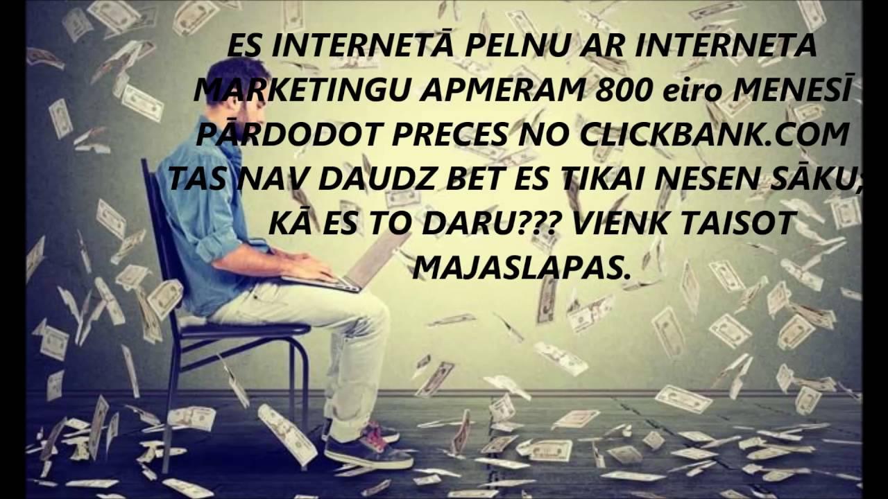 kurš daudz nopelna internetā