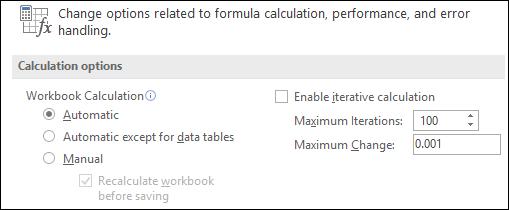 opciju formula